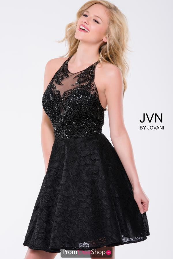 JVN by Jovani High Neckline Beaded Dress JVN41426