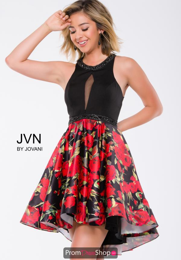 JVN by Jovani Short High Low Dress JVN41523