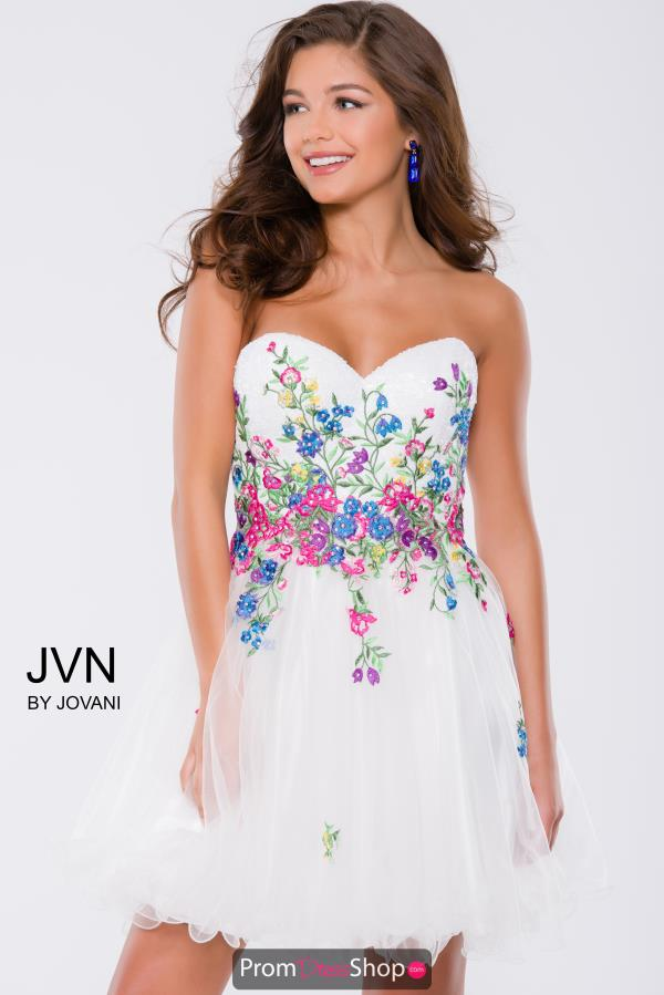 JVN by Jovani Short A Line Dress JVN42612
