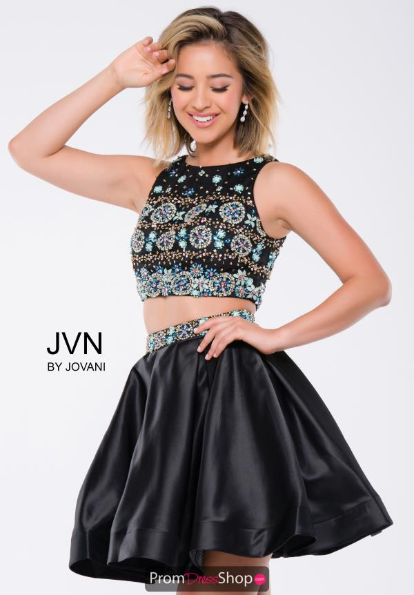 Black Two Piece JVN by Jovani Dress JVN45577