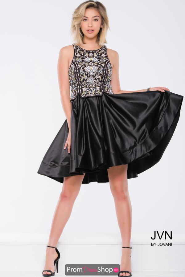 JVN by Jovani Beaded Black Dress JVN45585