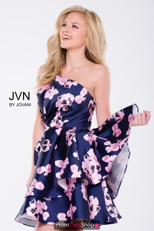 JVN by Jovani Floral A Line Dress JVN45681