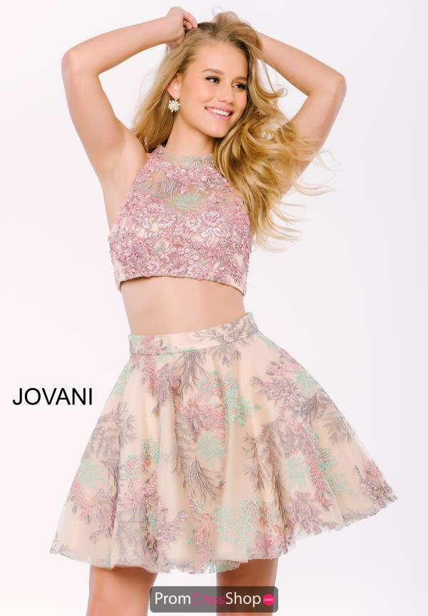 Jovani Cocktail Print A Line Dress 47058
