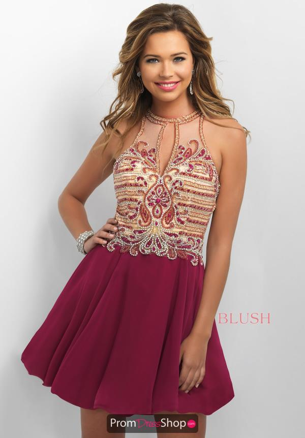 Intrigue by Blush A Line Chiffon Dress 215