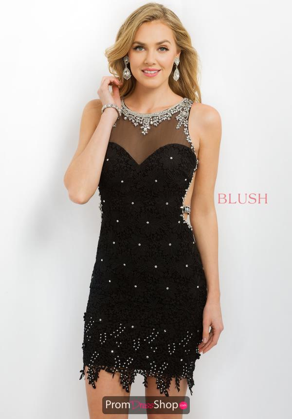 Intrigue by Blush Lace Fitted Dress 216