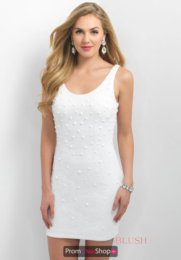 Intrigue by Blush Beaded Short Dress 225