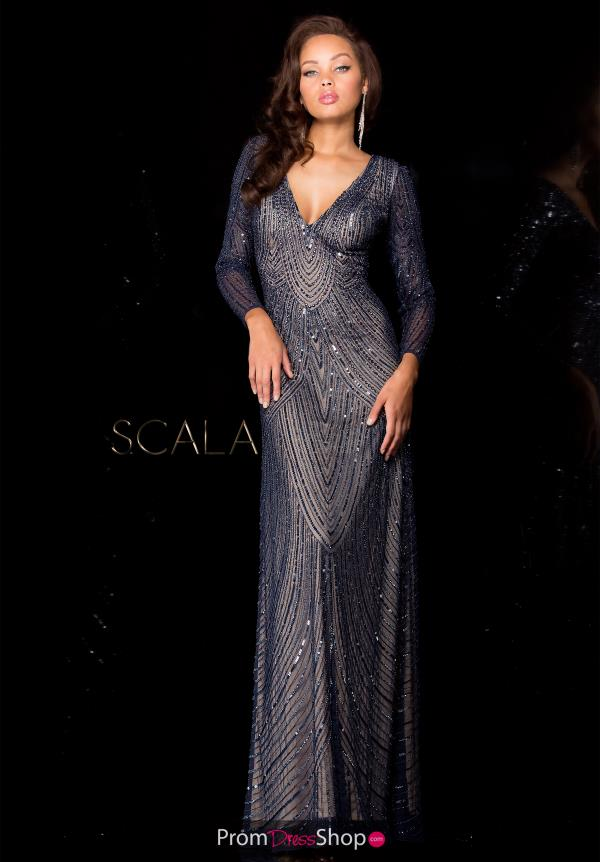 Scala V- Neckline Beaded Dress 48312