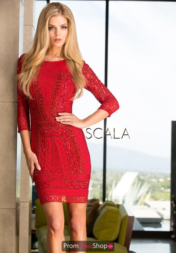Scala Beaded Short Holiday Dress 48377