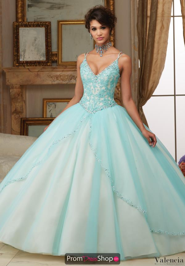 Vizcaya Quinceanera Beaded Straps Ball Gown 60002