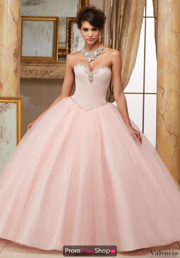 Vizcaya Quinceanera Tulle Skirt Lace Back Dress 60005