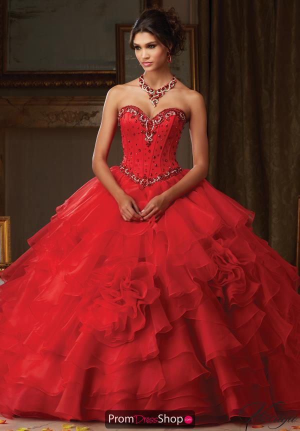 Vizcaya Quinceanera Beaded Corst Dress 89105