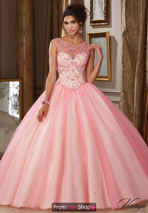 Vizcaya Quinceanera Sleeved Beaded Dress 89112