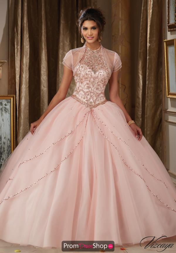 Vizcaya Quinceanera Beaded Corset Dress 89114