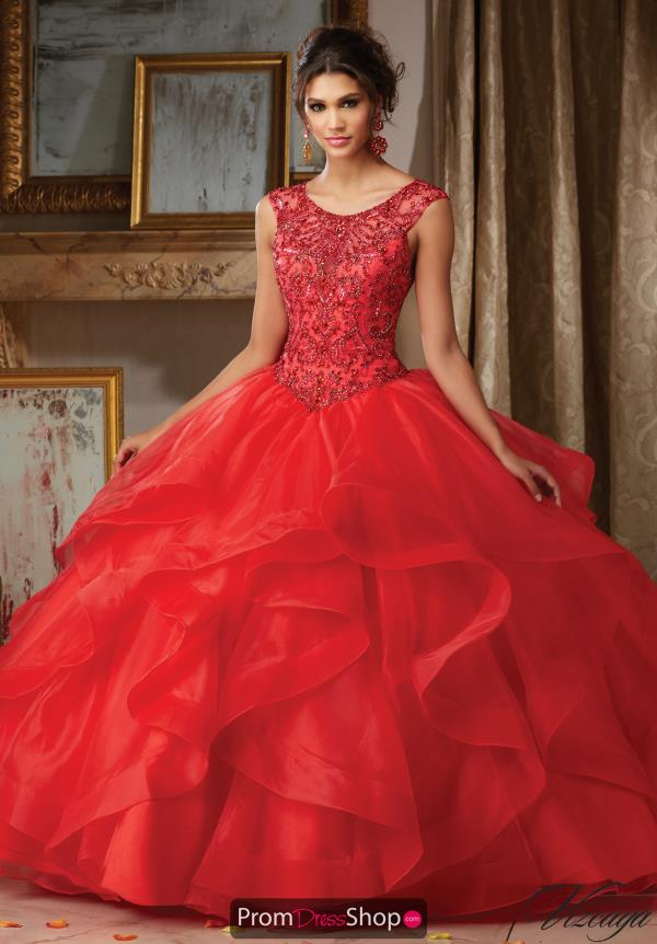 High Neckline Organza Vizcaya Quinceanera Dress 89117