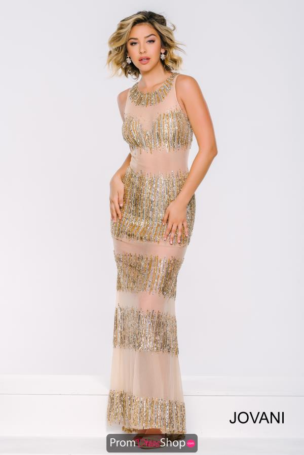 Jovani Long Fitted Dress 23453