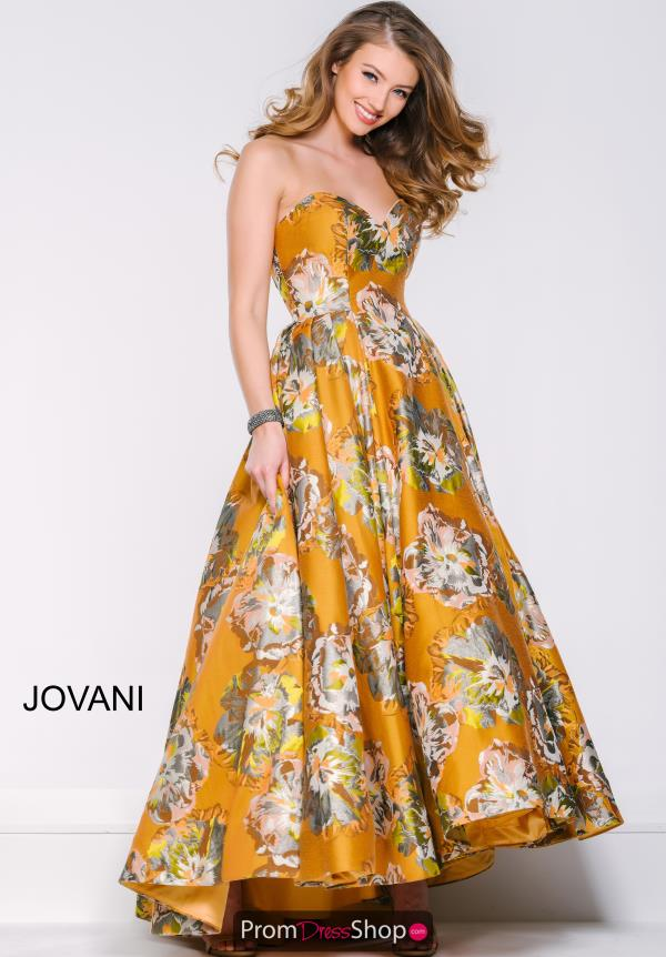 Strapless Floral Jovani Dress 37920