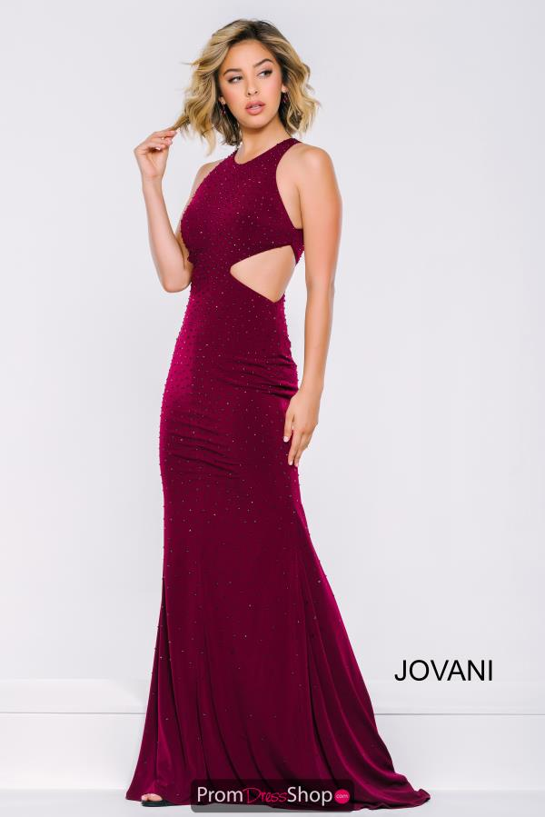 Jovani High Neckline Long Dress 39798