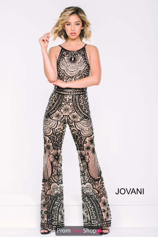 Jovani Black Pant Suit Dress 40450