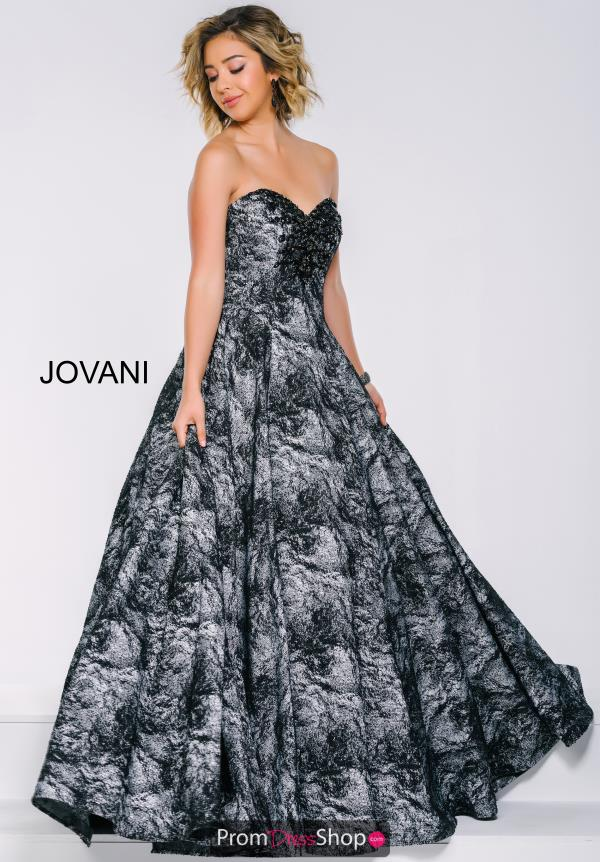 Jovani Black Strapless Dress 40620
