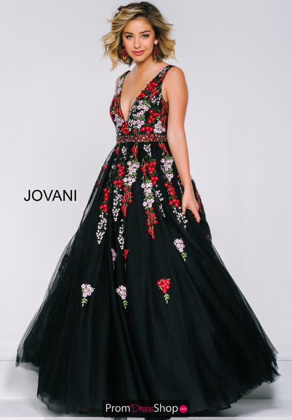 Jovani Black Print Dress 41727