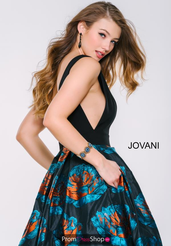 Jovani Print V- Neckline Dress 43081