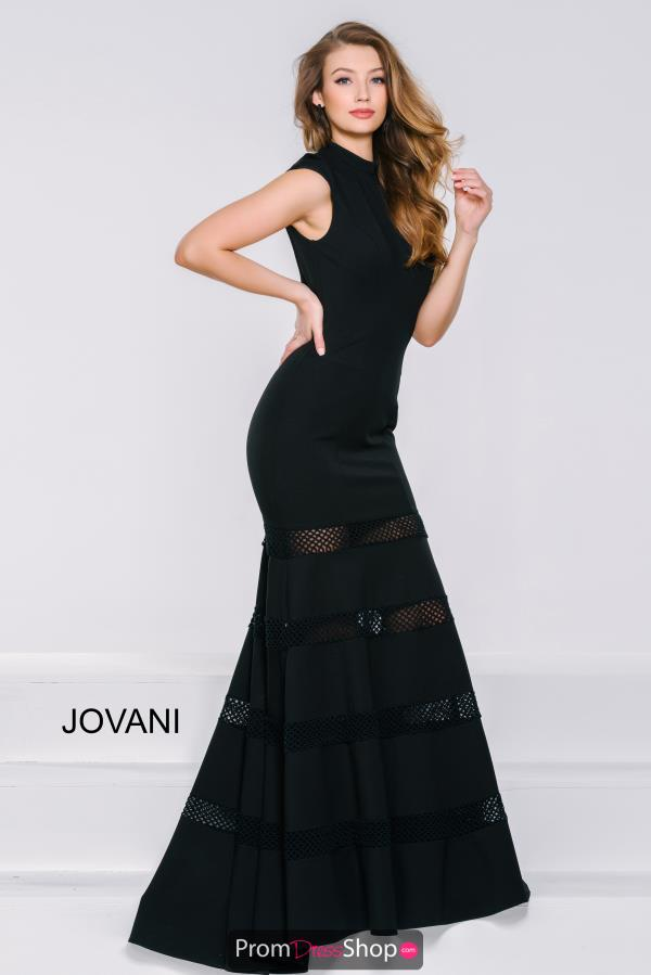 Cap Sleeved Fitted Jovani Dress 46290