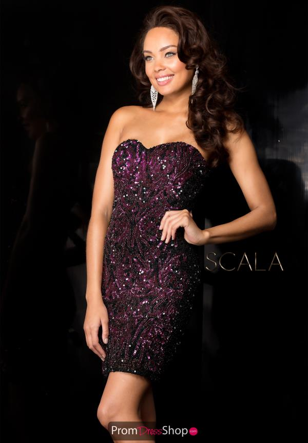 Scala Beaded Short Dress 48560
