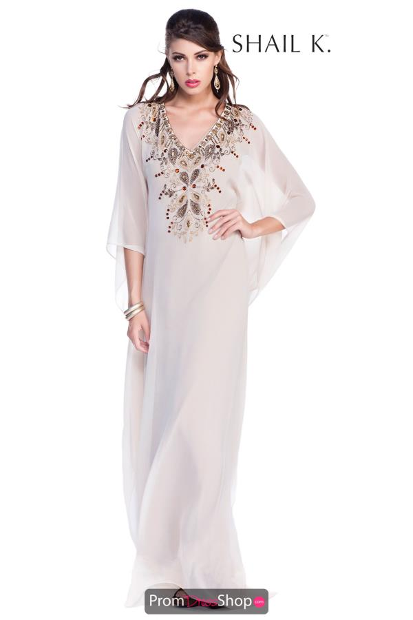Shail K V- Neckline Long Dress 1031