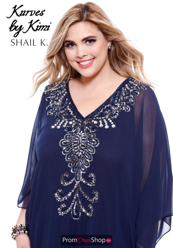 Shail K V- Neckline Long Dress 1030X