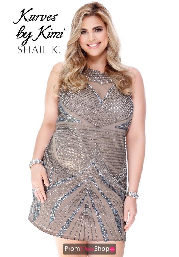 Short Beaded Shail K Dress 1089X