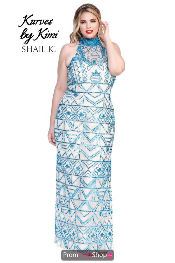 Shail K Halter Top Beaded Dress 3774X