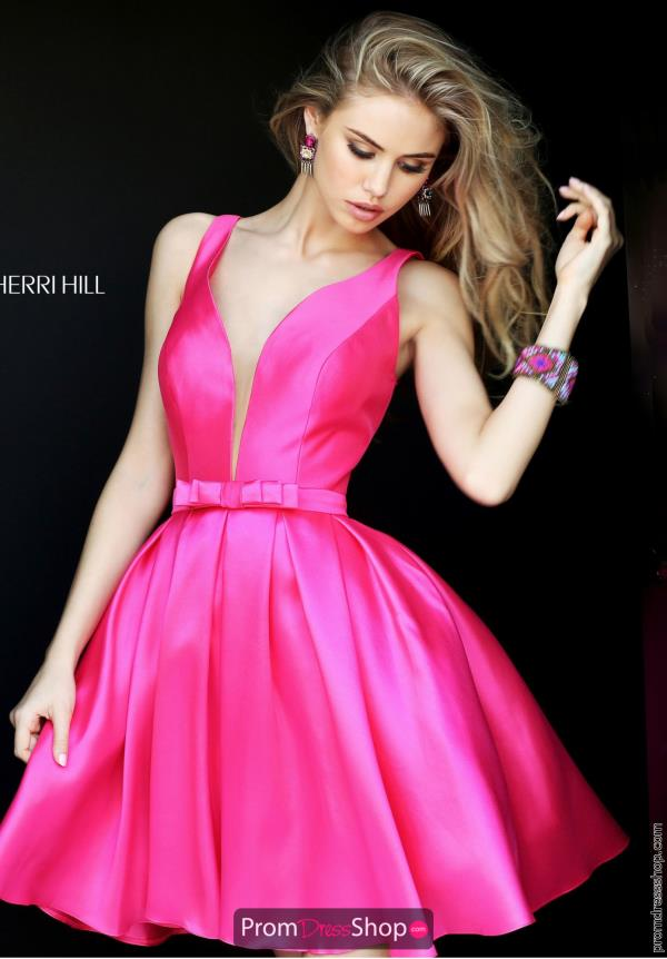 Sherri Hill Short V- Neckline Dress S50506