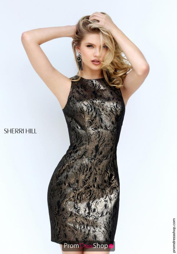 Sherri Hill Short Beaded Short Dress S50670