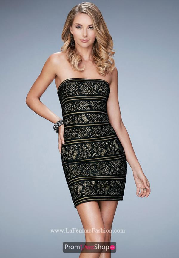 Strapless La Femme Short Dress 22863