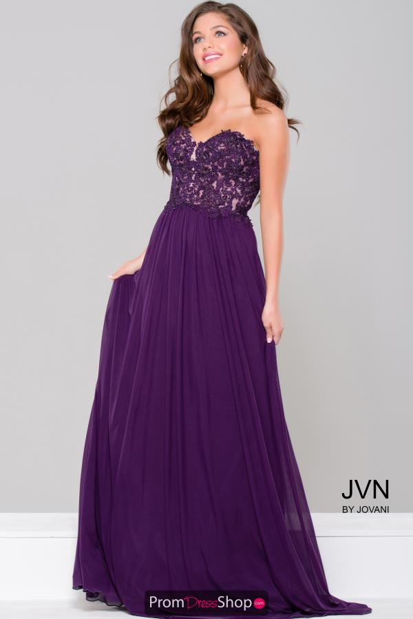 JVN by Jovani Long A Line Dress JVN41461