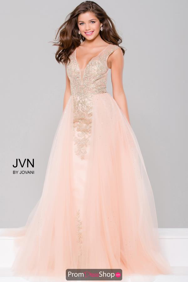 JVN by Jovani Tulle A Line Plus Dress JVN41677