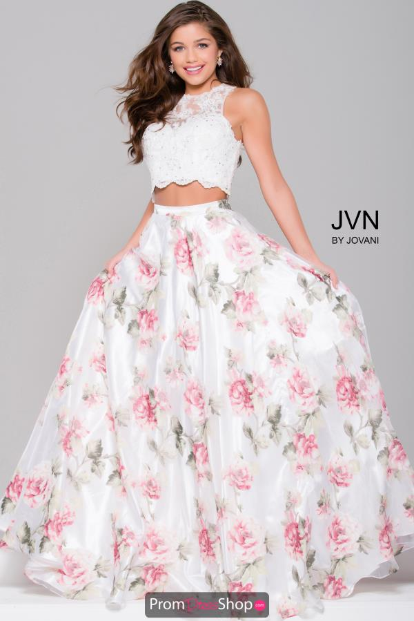 JVN by Jovani Two Piece White Dress JVN41771