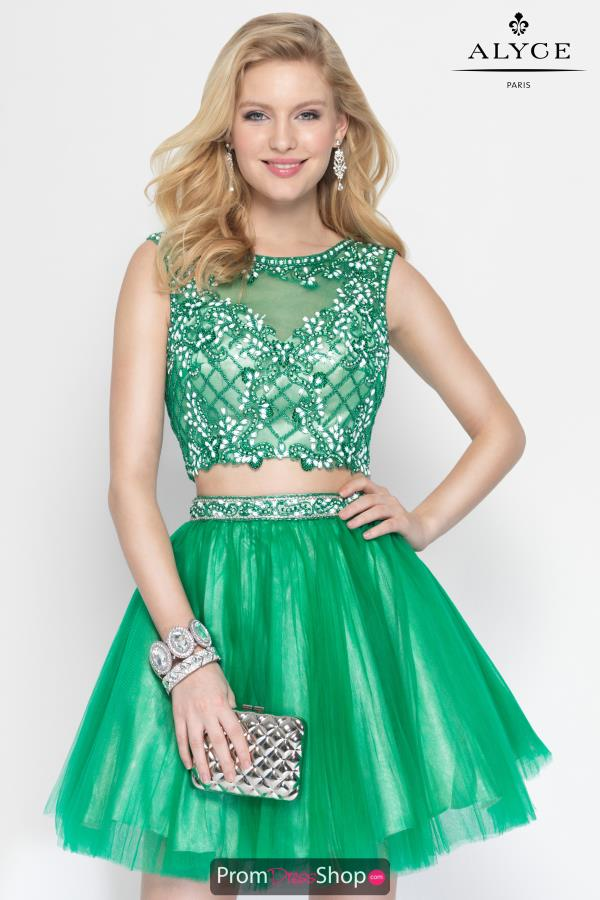Alyce Short Two Piece Tulle Dress 4437