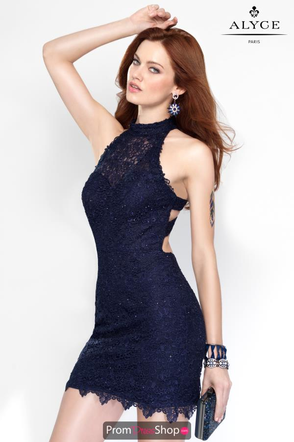 Alyce Short Lace Beaded Dress 4440
