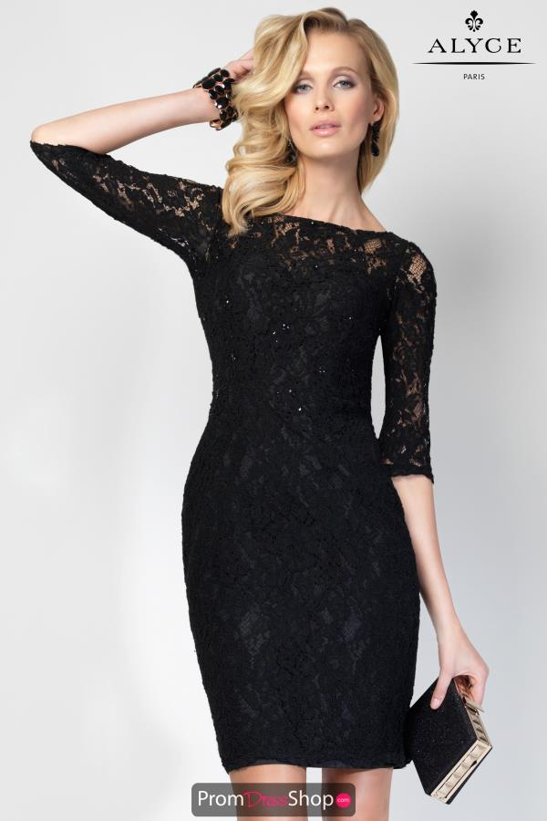 Alyce Short Fitted Lace Dress 5825