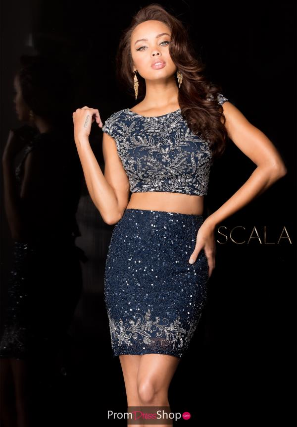 Scala Sleeved Two Piece Dress 25407