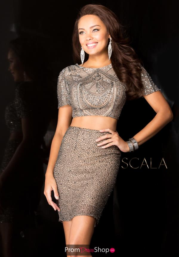 Two Piece Sequins Scala Dress 25410