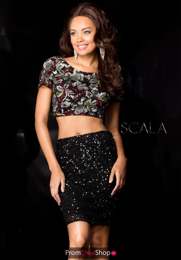 Scala Fitted Black Dress 25411