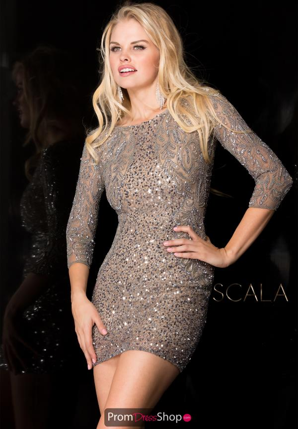 Scala Short Beaded Dress 48605