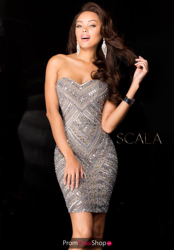 Strapless Fitted Scala Dress 48623