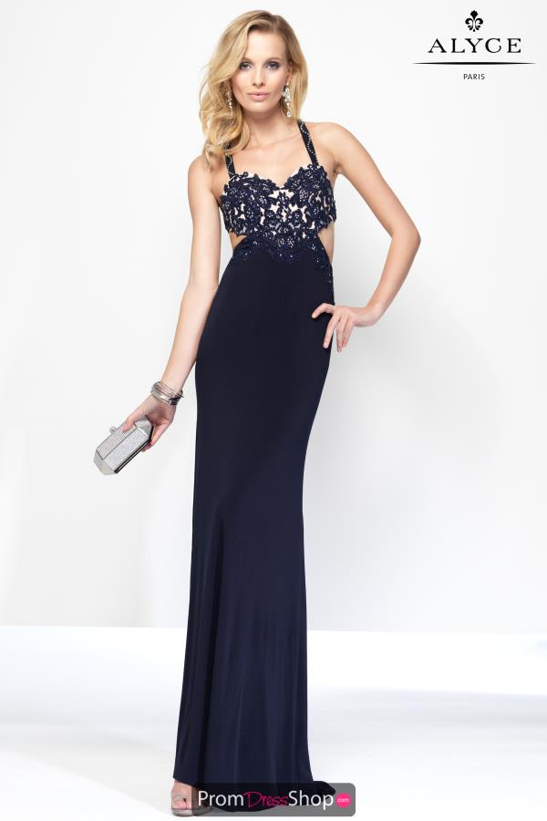 B'Dazzle Sexy Cut Out Navy Dress 35760