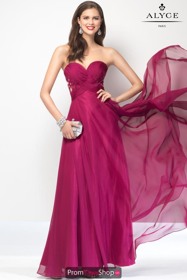 Strapless Chiffon B'Dazzle Dress 35828