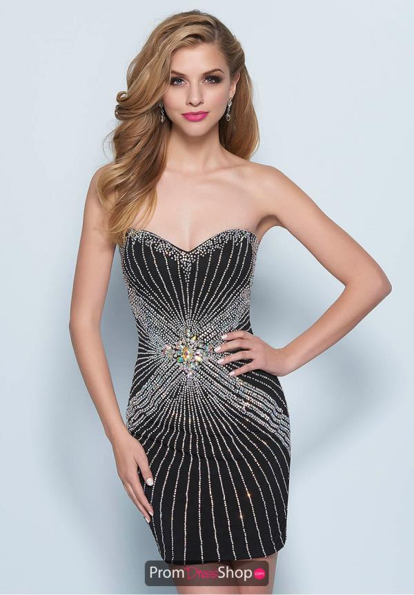 Strapless Fitted Splash Dress E605