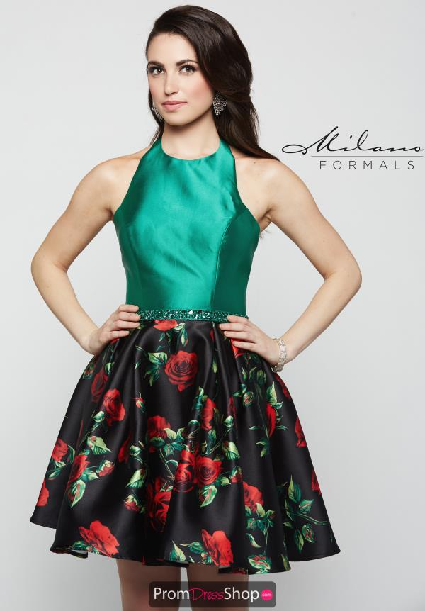Milano Formals Halter Top A Line Dress E1980