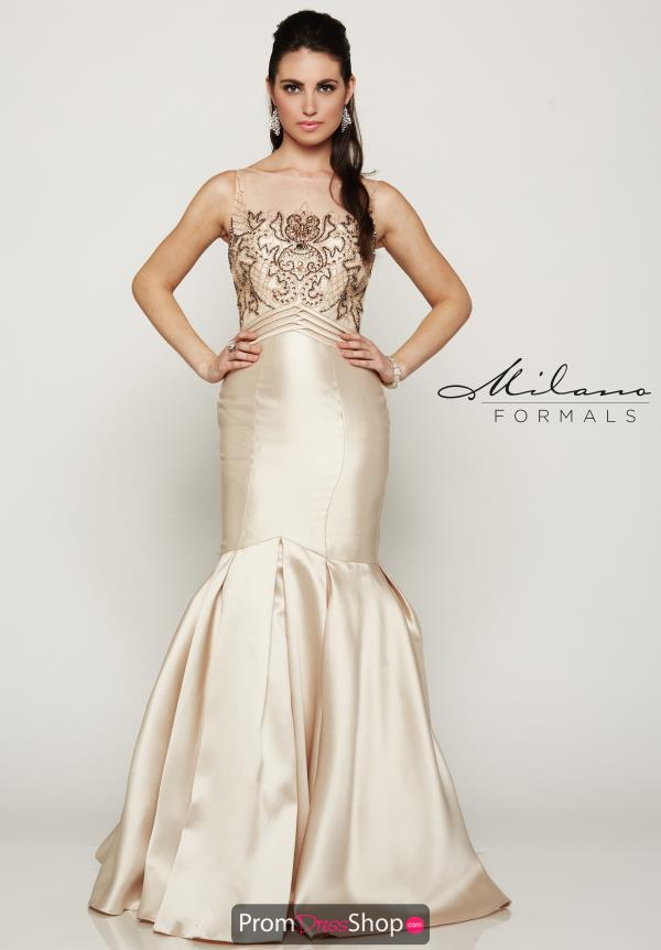 Milano Formals Fitted Long Dress E1989